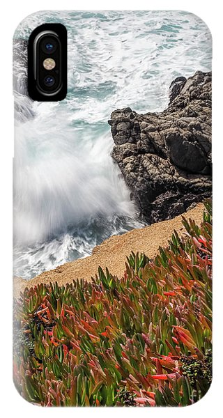 Waves And Rocks At Soberanes Point, California 30296 IPhone Case