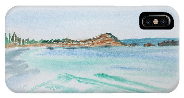 Waves Arriving Ashore In A Tasmanian East Coast Bay IPhone Case