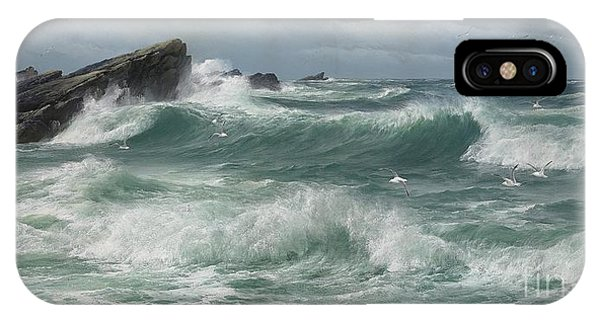 Waves Breaking On A Rocky Coast IPhone Case