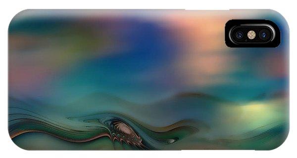 Fractal Landscape iPhone Case - Waves by Klara Acel