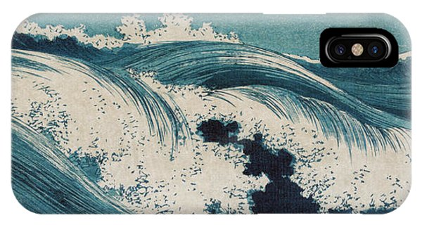 IPhone Case featuring the painting Waves by Konen Uehara
