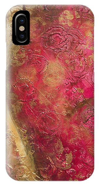 Waves Of Circles On Fuchsia IPhone Case