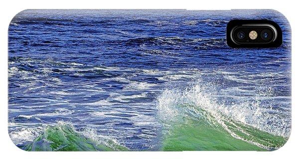 Navigation iPhone Case - Waves Off Seguin Island by Olivier Le Queinec