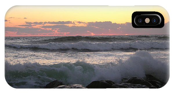 Waves Over The Rocks  5-3-15 IPhone Case