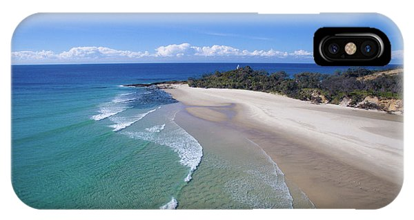 Waves Rolling In To North Point Beach On Moreton Island IPhone Case
