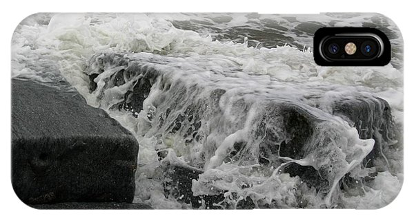 Waves Splashing Stones 2 IPhone Case