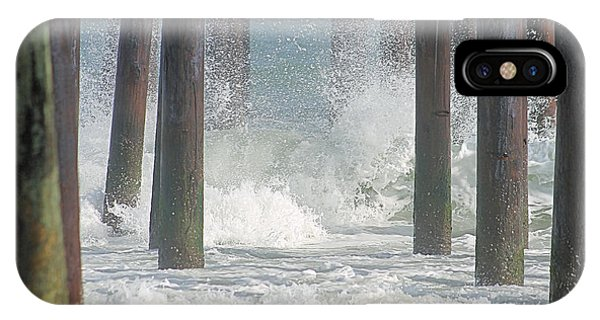 Waves Under The Pier IPhone Case