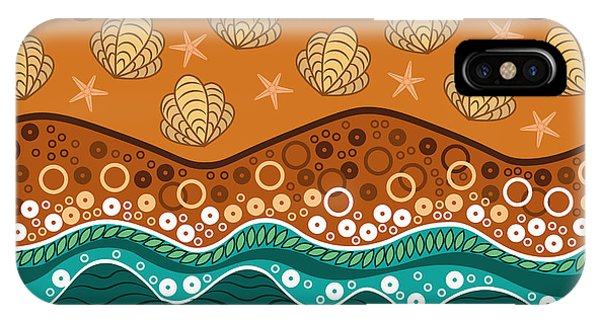 Beauty iPhone Case - Waves by Veronica Kusjen