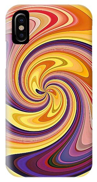 Wavy Stripes Figure 3 IPhone Case