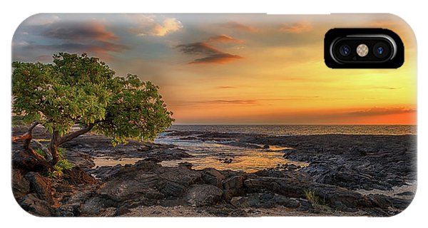 IPhone Case featuring the photograph Wawaloli Beach Sunset by Susan Rissi Tregoning