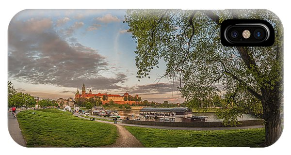 Wawel Royal Castle Seen From Vistula Bank In 16x9 IPhone Case