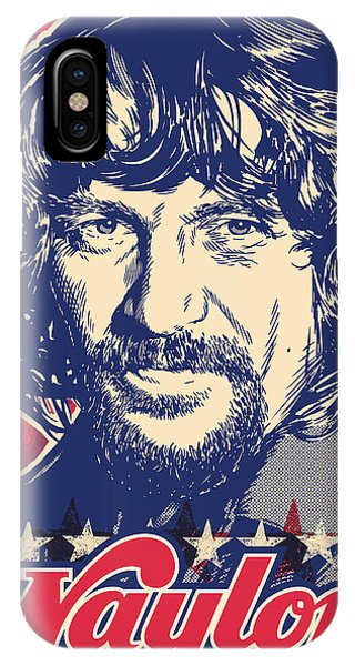 Country iPhone Case - Waylon Jennings Pop Art by Jim Zahniser