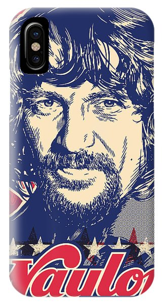 Johnny Cash iPhone Case - Waylon Jennings Pop Art by Jim Zahniser