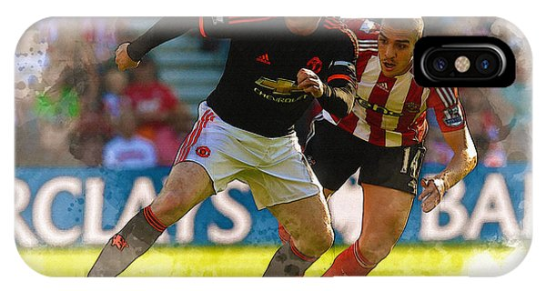 Wayne Rooney iPhone Case - Wayne Rooney Is Marshalled by Don Kuing