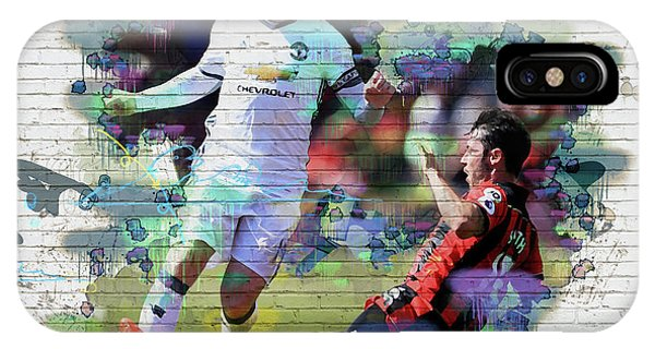 Wayne Rooney iPhone Case - Wayne Rooney Street Art by Don Kuing