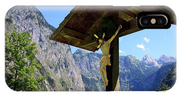 Christian Cross iPhone Case - Wayside by Nailia Schwarz