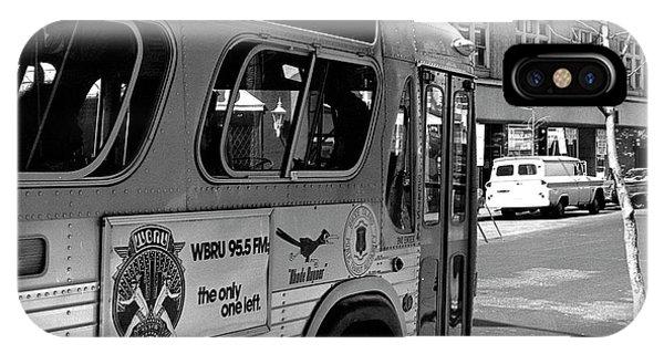 Wbru-fm Bus Sign, 1975 IPhone Case