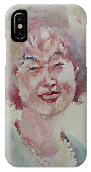 Wc Portrait 1627 My Sister Hyunju IPhone Case
