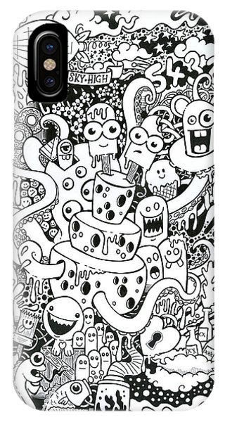 Illustration iPhone Case - We All Love Cheese by Samuel Whitton