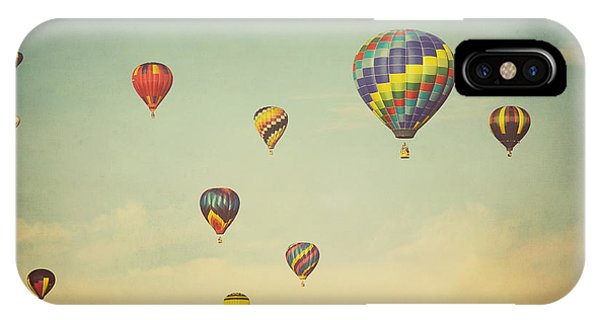 Hot Air Balloons iPhone Case - We Are Floating In Space by Irene Suchocki