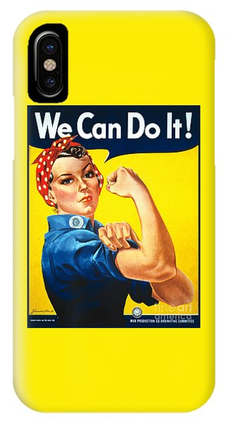 We Can Do It Rosie The Riveter Poster IPhone Case