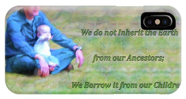 We Do Not Inherit The Earth - V3 IPhone Case
