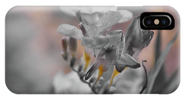 IPhone Case featuring the photograph We Fade To Grey Freesia's by Lance Sheridan-Peel