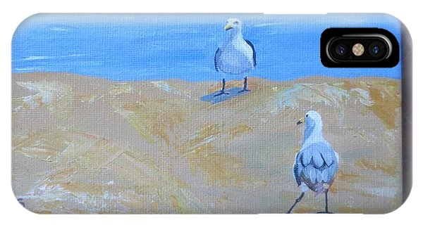 We First Met On The Beach IPhone Case