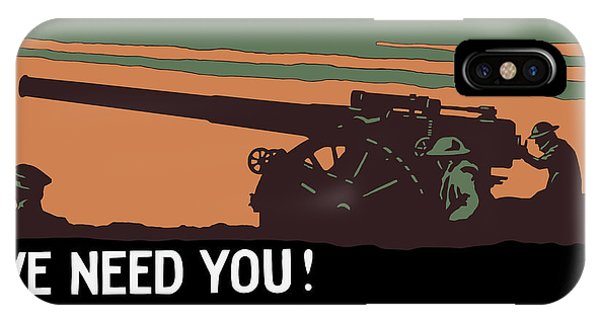 Wwi iPhone Case - We Need You - Coast Artillery Corps Usa by War Is Hell Store
