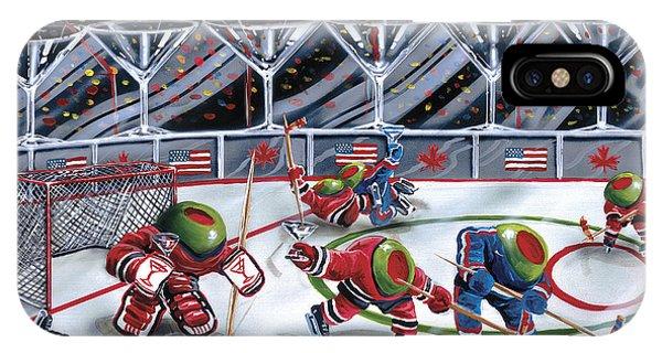 Martini iPhone Case - We Olive Hockey by Michael Godard