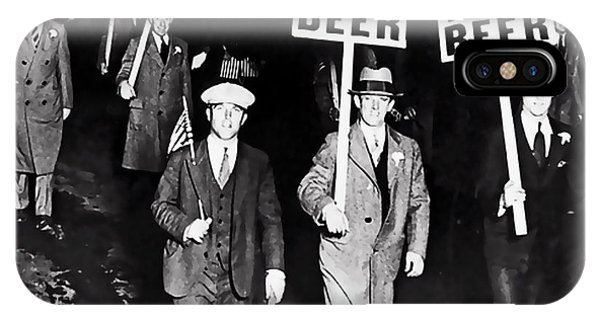 Protest iPhone Case - We Want Beer - Prohibition C. 1932 by Daniel Hagerman