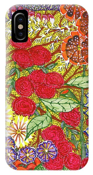 IPhone Case featuring the painting We Will Have Many Blooms #2 by Kym Nicolas