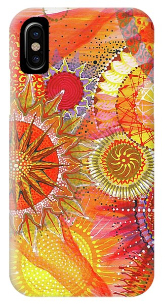 IPhone Case featuring the painting We Will Have Many Suns #2 by Kym Nicolas