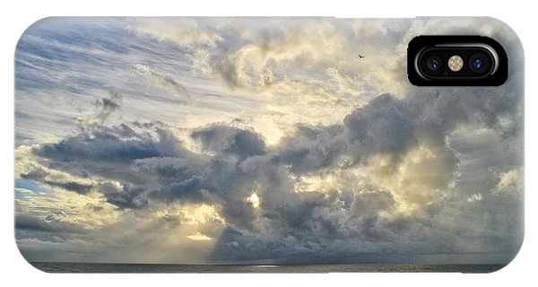 Weather Over Topsail Beach 2977 IPhone Case
