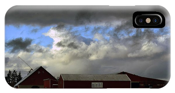 Weather Threatening The Farm IPhone Case