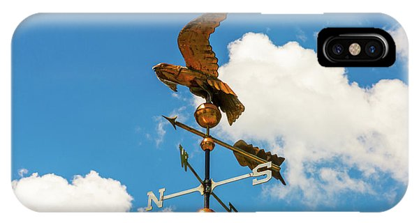 Weather Vane On Blue Sky IPhone Case