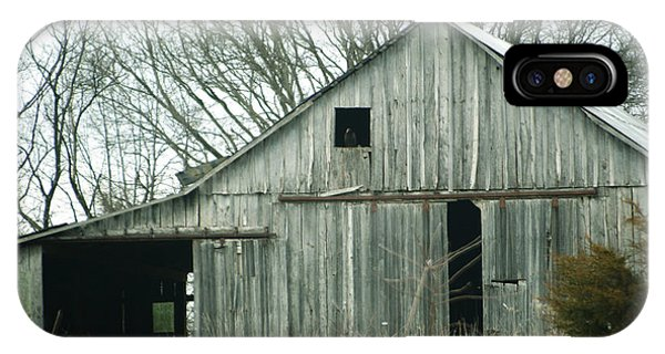 Weathered Barn In Winter IPhone Case