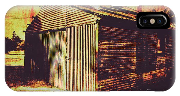 Texture iPhone Case - Weathered Vintage Rural Shed by Jorgo Photography - Wall Art Gallery