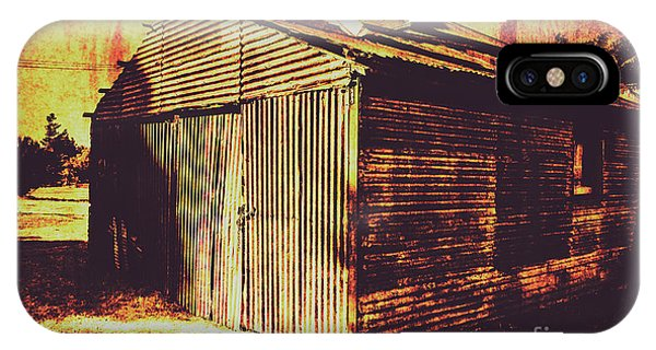 Damage iPhone Case - Weathered Vintage Rural Shed by Jorgo Photography - Wall Art Gallery