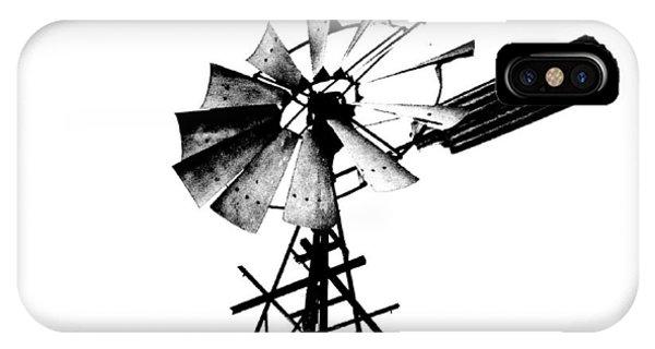Weathered Windmill - B-w IPhone Case