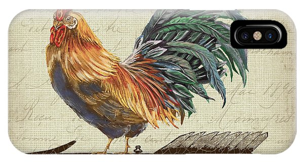Ironwork iPhone Case - Weathervane Rooster-jp3772 by Jean Plout