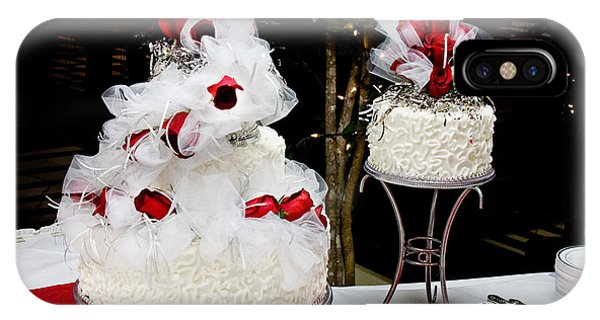 Wedding Cake And Red Roses IPhone Case