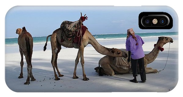 Exploramum iPhone Case - Wedding Camels In The Waiting ... by Exploramum Exploramum
