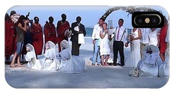 Exploramum iPhone Case - Wedding Complete Panoramic Kenya Beach by Exploramum Exploramum