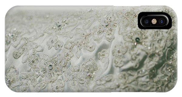 Wedding Dress Floral Beadwork IPhone Case