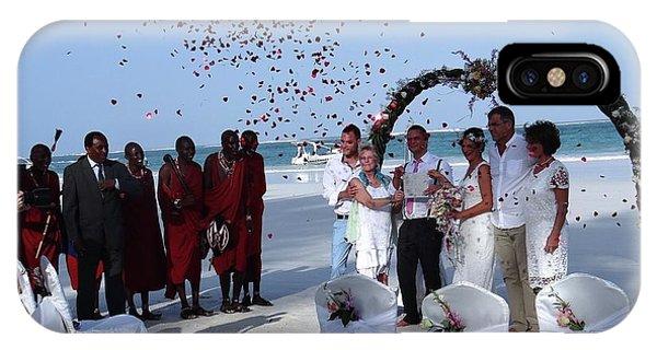 Exploramum iPhone Case - Wedding Party In Rose Petals by Exploramum Exploramum