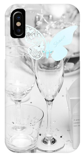 Wedding Table Decoration At Reception IPhone Case