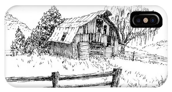 Weeping Willow And Barn One IPhone Case