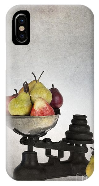 Pears iPhone Case - Weighing Pears by Jane Rix