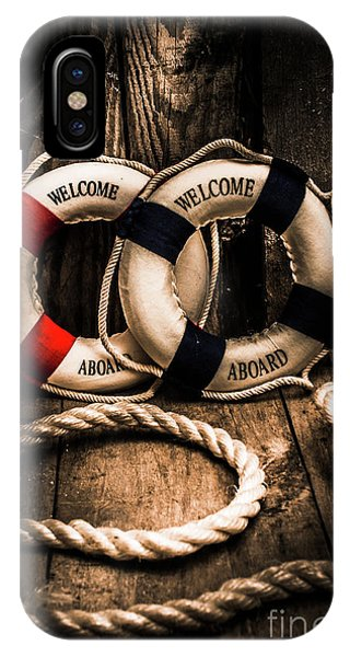 Welcome Aboard The Dark Cruise Line IPhone Case